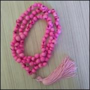 Japamala Feito com Semente de Açaí Rosa Ref: 7639