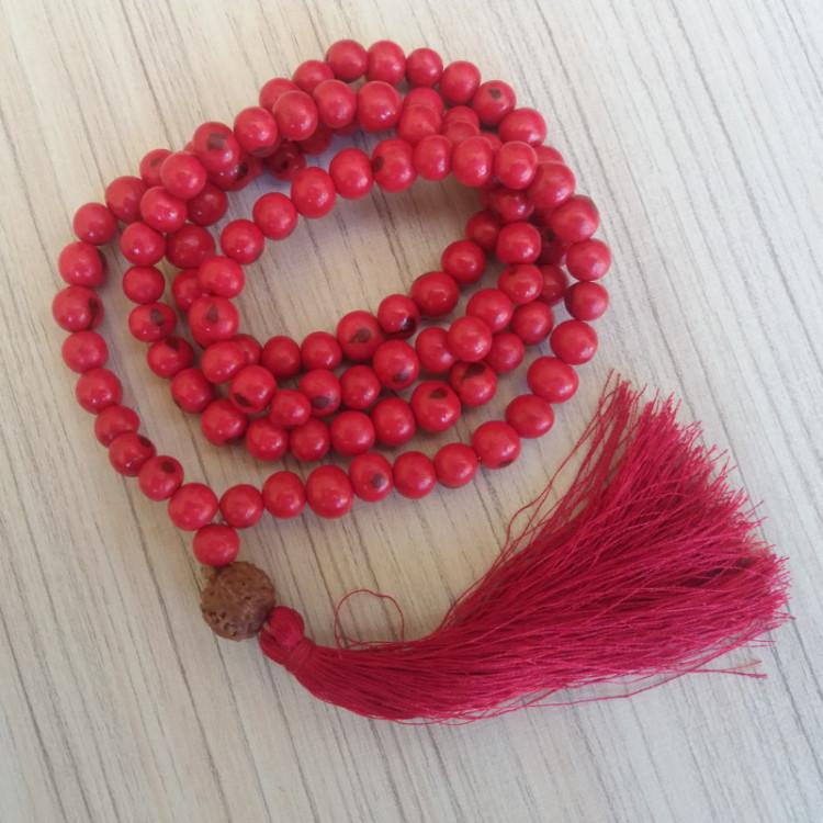 Japamala Feito Com Semente De Açaí Vermelho Ref: 7640