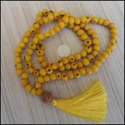 Japamala Feito Com Semente De Açaí Amarelo Ref: 7774
