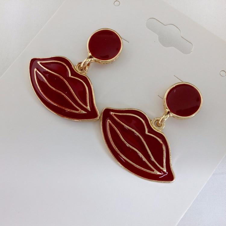 Brinco Vermelho Ref: 4602 - Bijuterias Artesanais